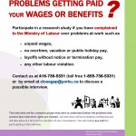 Have you had problems getting paid your wages or benefits?